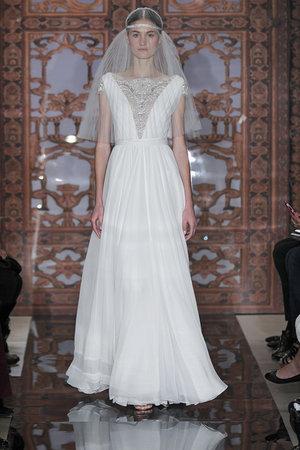 Wedding Dresses, A-line Wedding Dresses, Fashion, V-neck Wedding Dresses, Wedding Dresses with Sleeves