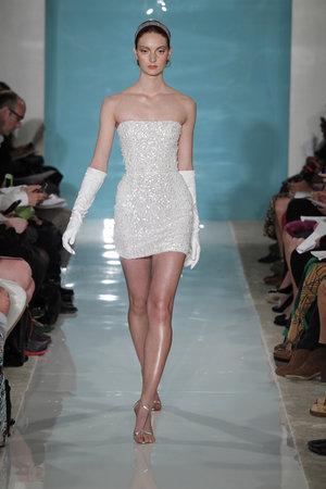 Wedding Dresses, Hollywood Glam Wedding Dresses, Fashion, Glam Weddings, Modern Weddings, Strapless Wedding Dresses, Reem acra, Short Wedding Dresses