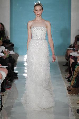 Wedding Dresses, Ruffled Wedding Dresses, Hollywood Glam Wedding Dresses, Fashion, Glam Weddings, Strapless Wedding Dresses, Reem acra, Art Deco Weddings