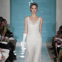Wedding Dresses, Vintage Wedding Dresses, Hollywood Glam Wedding Dresses, Fashion, Glam Weddings, Vintage Weddings, V-neck Wedding Dresses, Reem acra, Art Deco Weddings