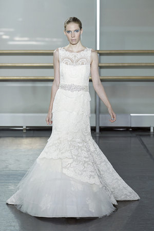Wedding Dresses, Illusion Neckline Wedding Dresses, Mermaid Wedding Dresses, Ruffled Wedding Dresses, Lace Wedding Dresses, Fashion, Rivini