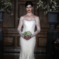 Wedding Dresses, Illusion Neckline Wedding Dresses, Lace Wedding Dresses, Romantic Wedding Dresses, Vintage Wedding Dresses, Fashion, Spring Weddings, Garden Weddings, Romona keveza, Off the Shoulder Wedding Dresses