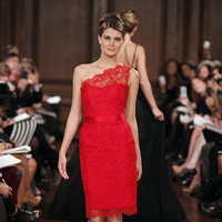 Bridesmaids Dresses, Fashion, red, Romona keveza, Short Wedding Dresses