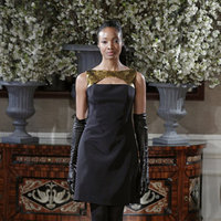 Fashion, black, gold, Glam Weddings, Modern Weddings, Romona Keveza Couture