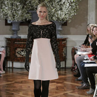 Fashion, pink, black, Vintage Weddings, Romona Keveza Couture