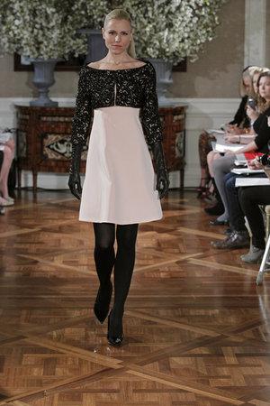 Fashion, pink, black, Vintage Weddings, Romona Keveza Couture