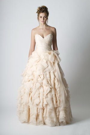 Wedding Dresses, Sweetheart Wedding Dresses, Ball Gown Wedding Dresses, Ruffled Wedding Dresses, pink, Spring Weddings, Modern Weddings, Sareh Nouri