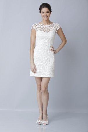 Wedding Dresses, Illusion Neckline Wedding Dresses, Lace Wedding Dresses, Fashion, Short Wedding Dresses, Theia