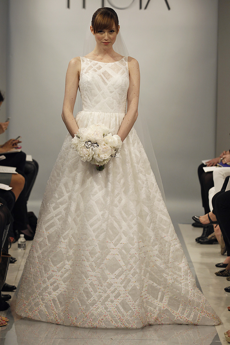 Wedding Dresses, Illusion Neckline Wedding Dresses, A-line Wedding Dresses, Fashion, Modern Weddings, Theia
