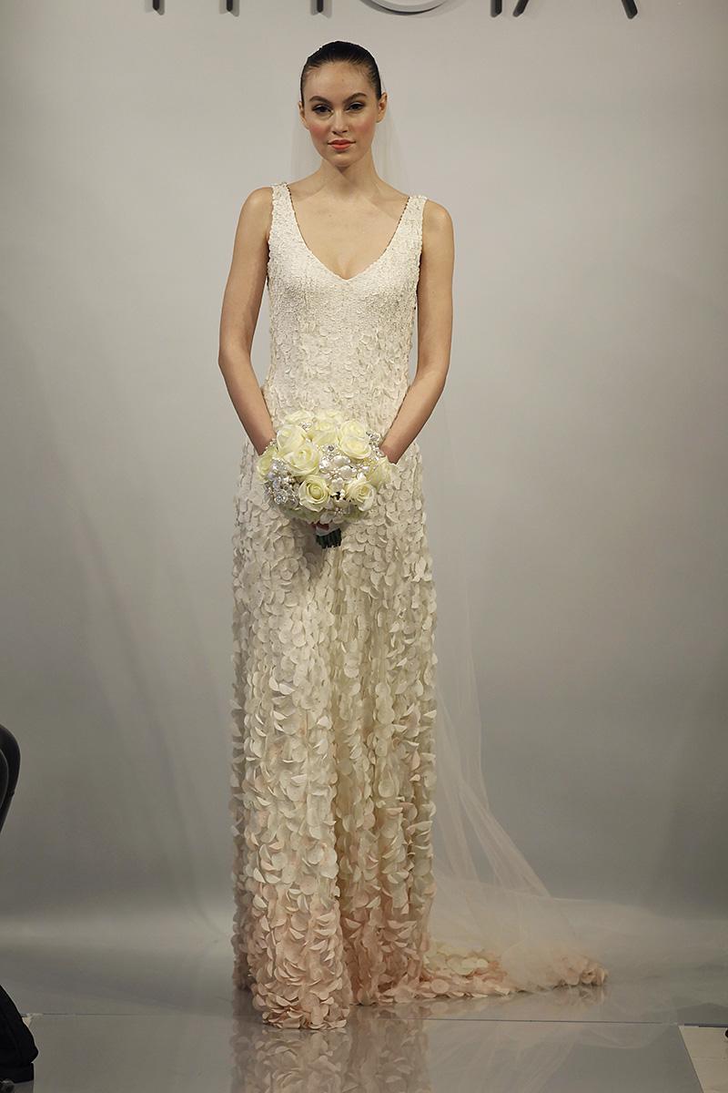 Wedding Dresses, Romantic Wedding Dresses, Fashion, pink, Spring Weddings, Garden Weddings, V-neck Wedding Dresses, Theia