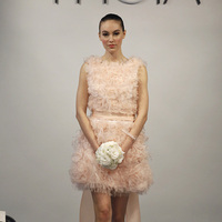 Wedding Dresses, Ruffled Wedding Dresses, Fashion, pink, Modern Weddings, Short Wedding Dresses, Theia