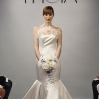 Fashion, Theia, Wedding Dresses, Ruffled Wedding Dresses, Modern Weddings, pink, Mermaid Wedding Dresses, Glam Weddings, Hollywood Glam Wedding Dresses