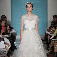 Wedding Dresses, Illusion Neckline Wedding Dresses, A-line Wedding Dresses, Lace Wedding Dresses, Romantic Wedding Dresses, Fashion, Fall Weddings, Garden Weddings, Reem acra