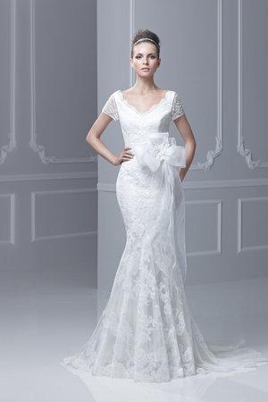 Wedding Dresses, Mermaid Wedding Dresses, Lace Wedding Dresses, Romantic Wedding Dresses, Fashion, V-neck Wedding Dresses, Blue by Enzoani