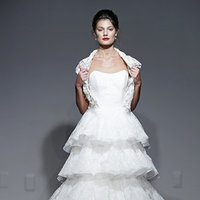 Wedding Dresses, Ruffled Wedding Dresses, Lace Wedding Dresses, Fashion, Fall Weddings, Wedding Dresses with Jackets, Anna Maier Ulla Maija Couture, Ulla Maija Couture