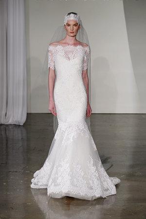 Wedding Dresses, Illusion Neckline Wedding Dresses, Mermaid Wedding Dresses, Lace Wedding Dresses, Romantic Wedding Dresses, Fashion, Marchesa, Off the Shoulder Wedding Dresses