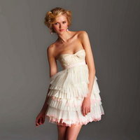 Wedding Dresses, Ruffled Wedding Dresses, Fashion, pink, Short Wedding Dresses, Rafael Cennamo