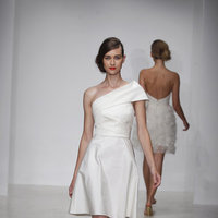 Wedding Dresses, One-Shoulder Wedding Dresses, Fashion, Modern Weddings, Amsale, Short Wedding Dresses