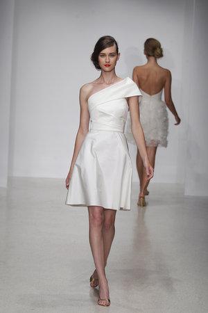 Wedding Dresses, One-Shoulder Wedding Dresses, Fashion, Modern Weddings, Amsale, Short Wedding Dresses