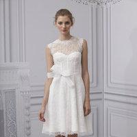Wedding Dresses, Illusion Neckline Wedding Dresses, Lace Wedding Dresses, Vintage Wedding Dresses, Fashion, Classic Weddings, Monique lhuillier, Short Wedding Dresses