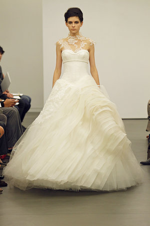 Wedding Dresses, Illusion Neckline Wedding Dresses, Ball Gown Wedding Dresses, Ruffled Wedding Dresses, Lace Wedding Dresses, Fashion, Modern Weddings, Vera wang
