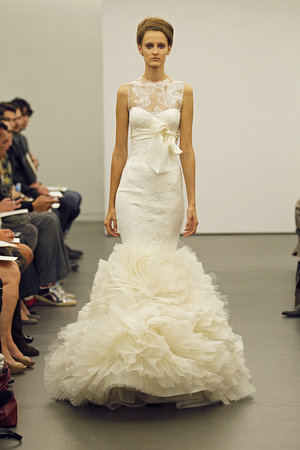 Wedding Dresses, Illusion Neckline Wedding Dresses, Mermaid Wedding Dresses, Ruffled Wedding Dresses, Lace Wedding Dresses, Fashion, Modern Weddings, Vera wang