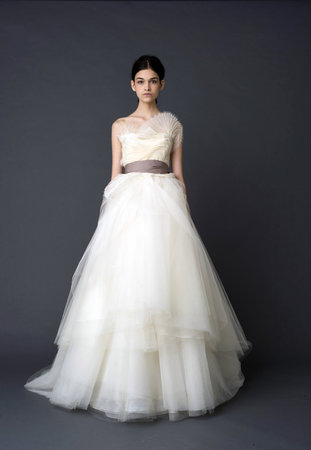 Wedding Dresses, One-Shoulder Wedding Dresses, Romantic Wedding Dresses, Fashion, Vera wang