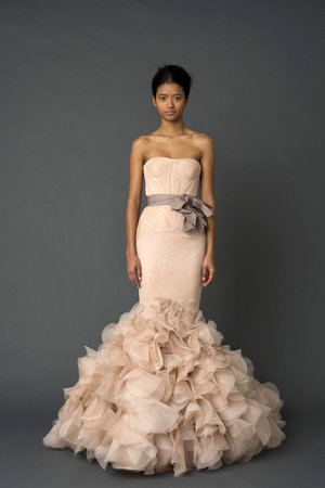 Wedding Dresses, Mermaid Wedding Dresses, Ruffled Wedding Dresses, Fashion, pink, Vera wang