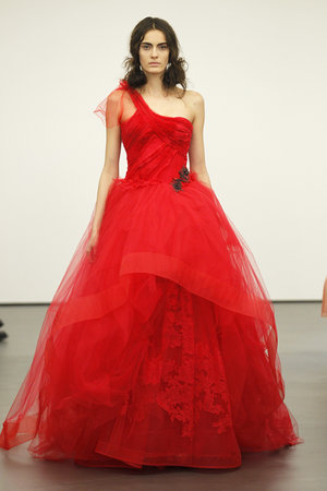 Wedding Dresses, One-Shoulder Wedding Dresses, Ball Gown Wedding Dresses, Fashion, red, Modern Weddings, Vera wang, Modern Wedding Dresses