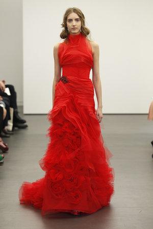 Wedding Dresses, Ruffled Wedding Dresses, Fashion, red, Modern Weddings, Vera wang, Modern Wedding Dresses, High Neck Wedding Dresses