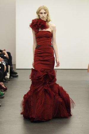 Wedding Dresses, One-Shoulder Wedding Dresses, Mermaid Wedding Dresses, Ruffled Wedding Dresses, Fashion, red, Modern Weddings, Vera wang, Modern Wedding Dresses