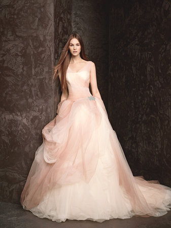 Wedding Dresses, Ball Gown Wedding Dresses, Romantic Wedding Dresses, pink, Spring Weddings, White by vera wang