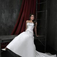 Wedding Dresses, Fashion, Strapless, Strapless Wedding Dresses, Beading, Satin, Ruching, Impression bridal, Beaded Wedding Dresses, satin wedding dresses