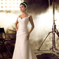 Wedding Dresses, Sweetheart Wedding Dresses, Fashion, Sweetheart, Spaghetti strap, Taffeta, Ruching, Impression bridal, taffeta wedding dresses