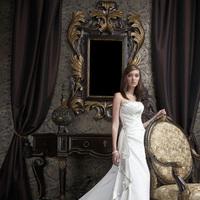 Wedding Dresses, A-line Wedding Dresses, Fashion, Strapless, Strapless Wedding Dresses, A-line, Ruching, Impression bridal, chapel train, Square Neckline, beading accents
