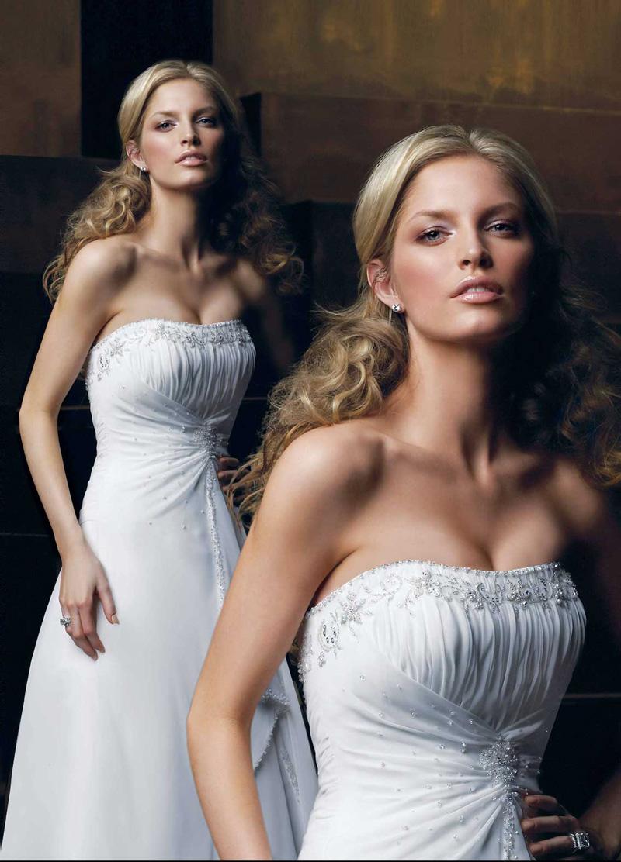 Wedding Dresses, Fashion, Strapless, Strapless Wedding Dresses, Beading, Chiffon, Pleats, Ruching, Impression bridal, Beaded Wedding Dresses, Chiffon Wedding Dresses