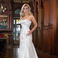 Wedding Dresses, Fashion, Strapless, Strapless Wedding Dresses, Beading, Impression bridal, chapel train, pleated bodice, Beaded Wedding Dresses