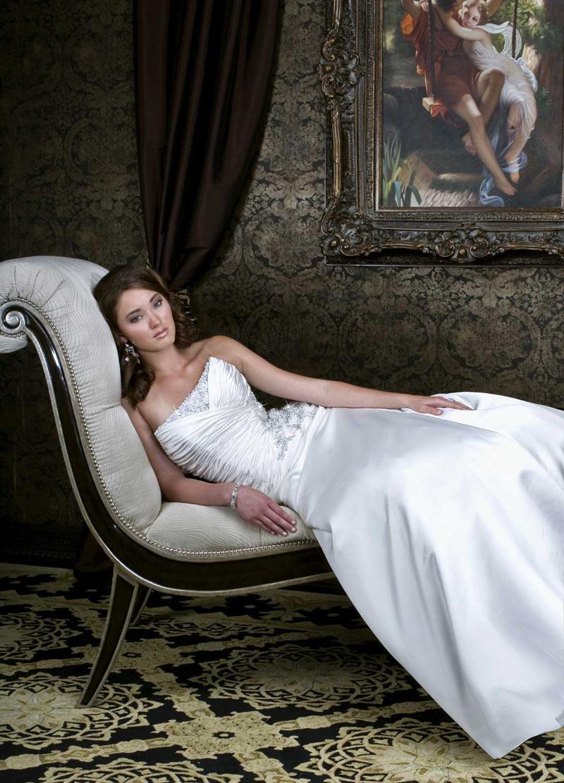 Wedding Dresses, A-line Wedding Dresses, Fashion, Strapless, Strapless Wedding Dresses, A-line, Beading, Ruching, Impression bridal, Square Neckline, Beaded Wedding Dresses