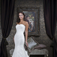 Wedding Dresses, Lace Wedding Dresses, Fashion, Lace, Strapless, Strapless Wedding Dresses, Impression bridal, trumpet skirt