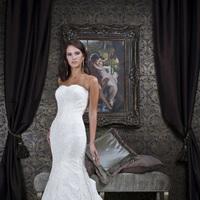 Wedding Dresses, Lace Wedding Dresses, Fashion, Lace, Strapless, Strapless Wedding Dresses, Impression bridal, trumpet skirt