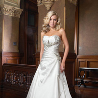 Wedding Dresses, Sweetheart Wedding Dresses, Fashion, Sweetheart, Beading, Satin, Ruching, Impression bridal, chapel train, Beaded Wedding Dresses, satin wedding dresses