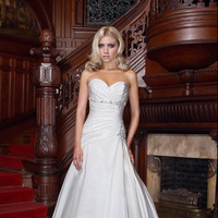 Wedding Dresses, Sweetheart Wedding Dresses, A-line Wedding Dresses, Fashion, Sweetheart, Strapless, Strapless Wedding Dresses, A-line, Beading, Taffeta, Pleats, Impression bridal, chapel train, Beaded Wedding Dresses, taffeta wedding dresses