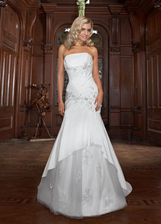 Wedding Dresses, Fashion, Strapless, Strapless Wedding Dresses, Beading, Fit and flare, Impression bridal, Beaded Wedding Dresses, criss-cross