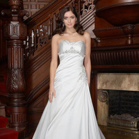 Wedding Dresses, Fashion, Beading, Satin, Impression bridal, pleated bust, Beaded Wedding Dresses, satin wedding dresses