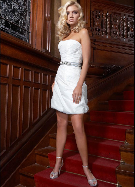 Wedding Dresses, Fashion, Strapless, Strapless Wedding Dresses, Short, Taffeta, Beaded belt, Impression bridal, Short Wedding Dresses, taffeta wedding dresses, bubble skirt