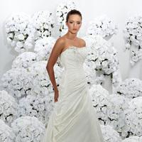 Wedding Dresses, Fashion, Strapless, Strapless Wedding Dresses, Beading, Taffeta, Pleats, Impression bridal, Beaded Wedding Dresses, taffeta wedding dresses