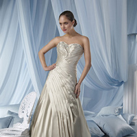 Wedding Dresses, Sweetheart Wedding Dresses, Fashion, Sweetheart, Strapless, Strapless Wedding Dresses, Beading, Satin, Pleats, Impression bridal, chapel train, Beaded Wedding Dresses, satin wedding dresses