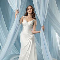 Wedding Dresses, Sweetheart Wedding Dresses, Fashion, Sweetheart, Sheath, Satin, Impression bridal, pleated bodice, beaded straps, satin wedding dresses, Sheath Wedding Dresses