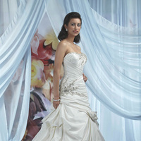Wedding Dresses, Sweetheart Wedding Dresses, Fashion, Sweetheart, Strapless, Strapless Wedding Dresses, Beading, Taffeta, Pick-ups, Rosettes, Impression bridal, chapel train, dropped waist, Beaded Wedding Dresses, taffeta wedding dresses, criss-cross bodice