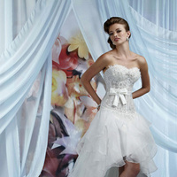 Wedding Dresses, Fashion, Corset, Bow, Organza, Impression bridal, ruffled skirt, organza wedding dresses, hi-low skirt